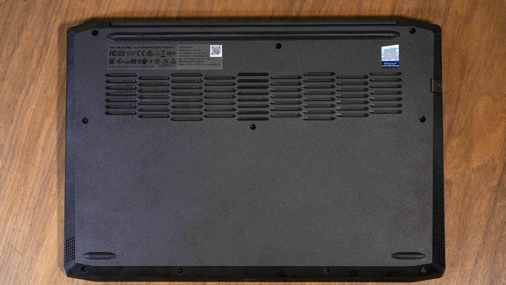 Lenovo IdeaPad Gaming 3 Unterseite