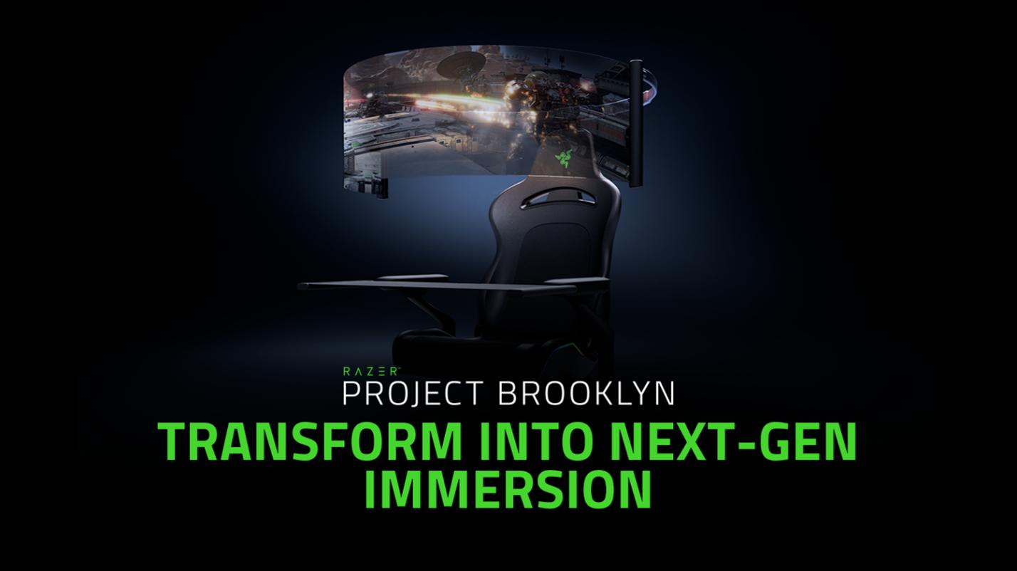 CES 2021: Razers Project Brooklyn vereint Gaming-Stuhl, rollbares OLED-Display und Gamer-Träume