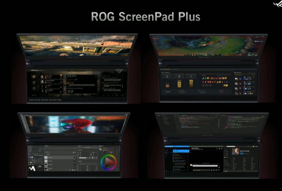 ScreenPad+ Zephyrus Duo