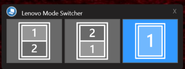 lenovo ThinkPad X1 Fold mode switcher