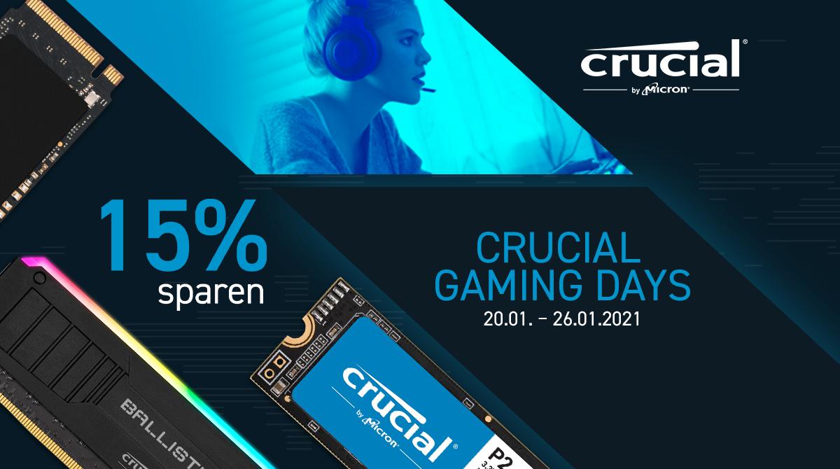 Crucial Gaming Days bei NBB – 15% auf ausgewählte SSDs sparen