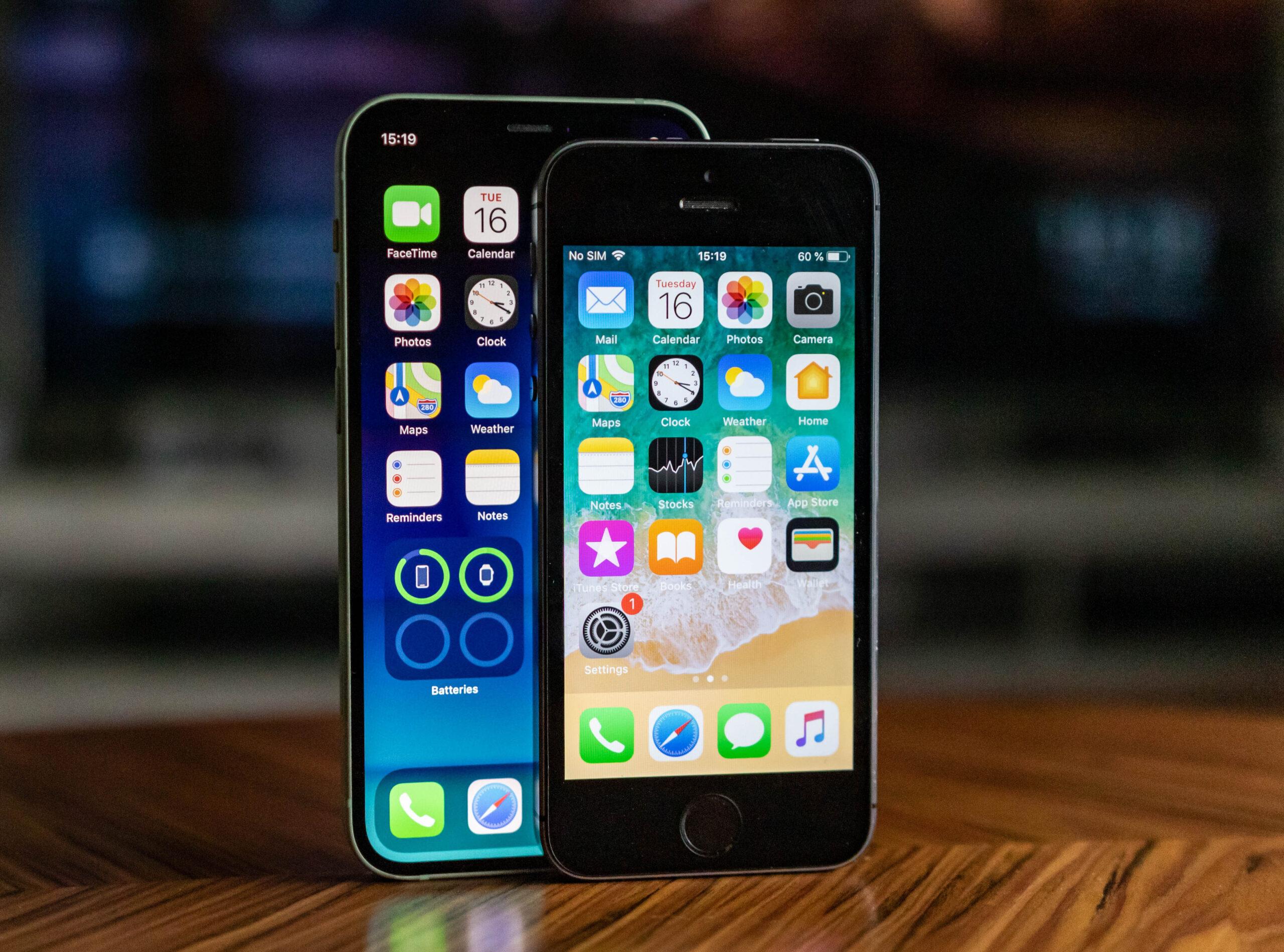 Apple iPhone 12 mini vs iPhone 5s