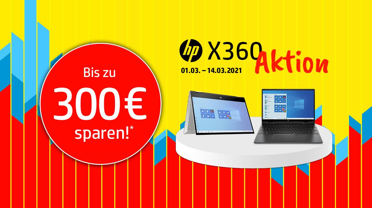 Sicher Dir bis zu 300 Euro Rabatt bei unserer HP Convertible-Aktion
