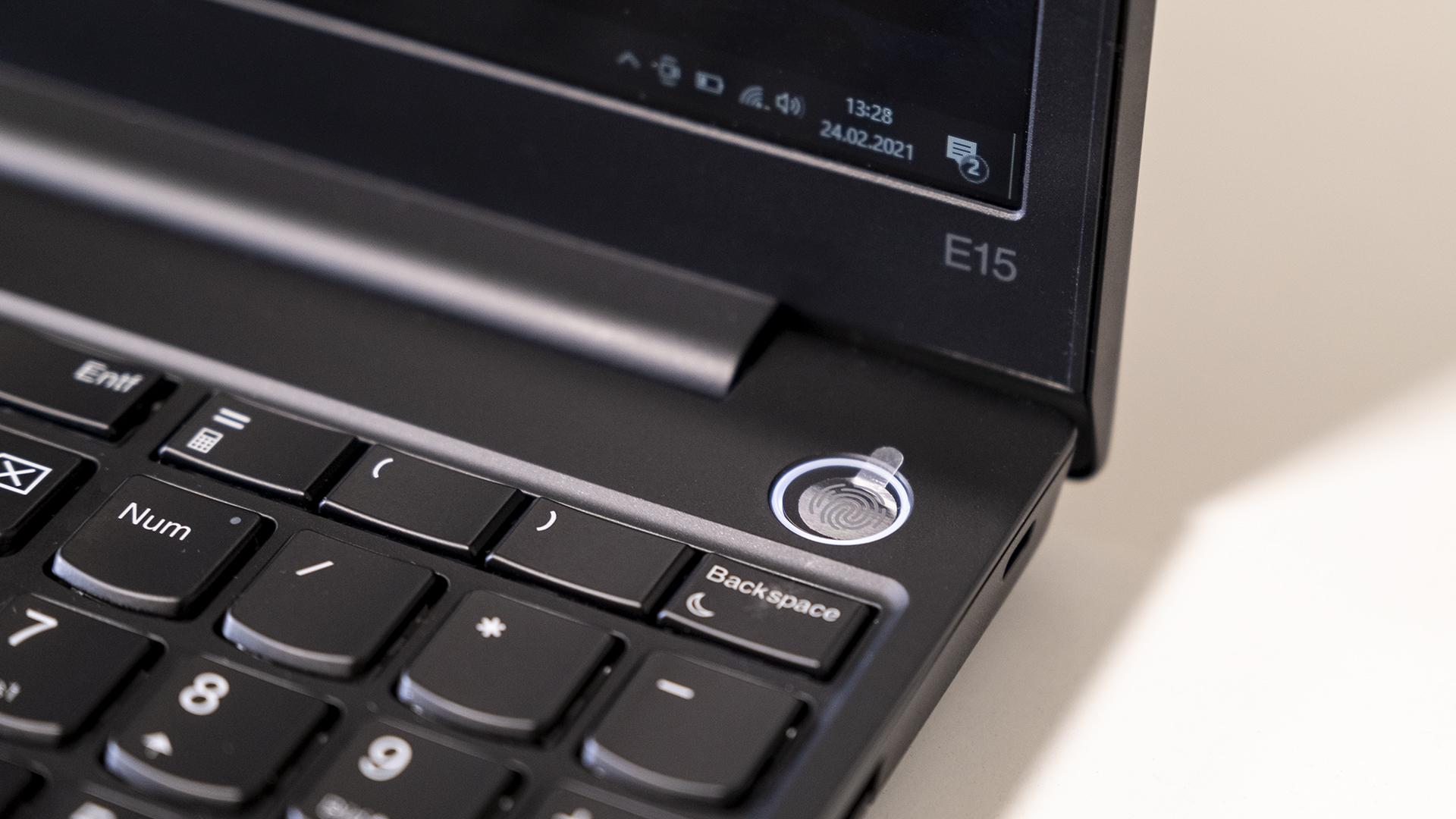 Lenovo ThinkPad E15 Fingerprint Reader Power Button