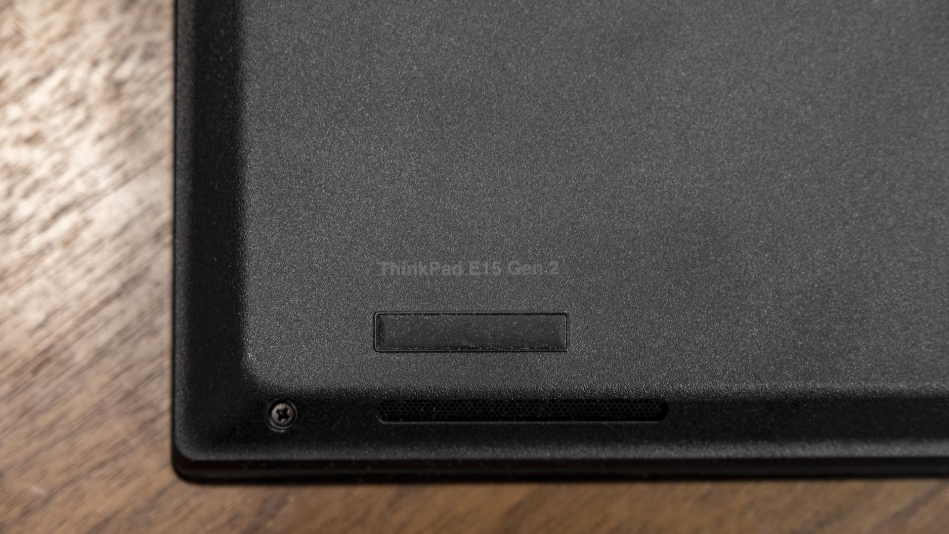 Lenovo ThinkPad E15 Gen 2 Unterseite