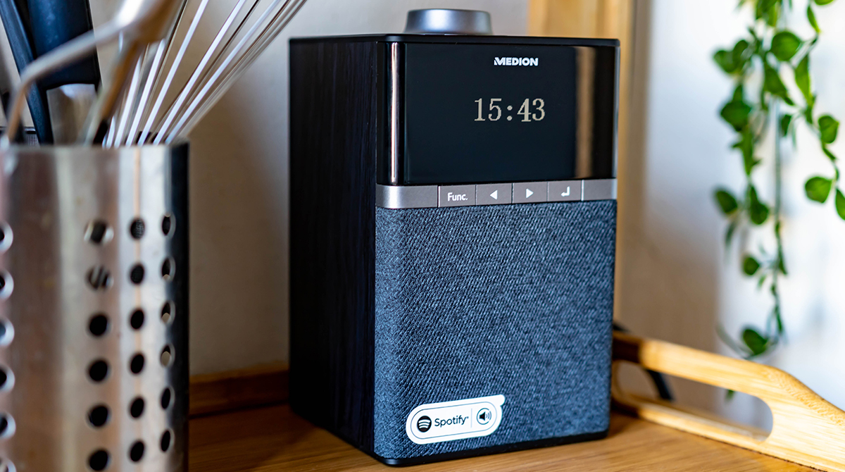 Medion WLAN DAB+ Radio im Test: Alexa und Spotify-Speaker für die Küche