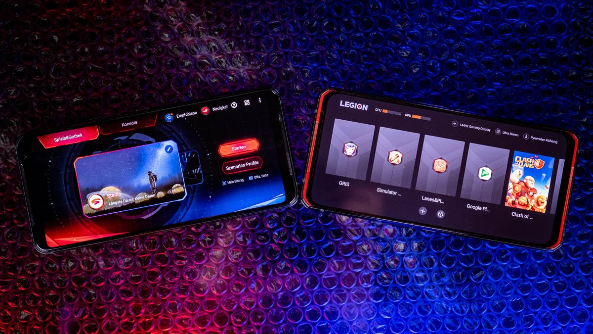 ROG Phone 3 und Legion Phone Duel Gaming-UI