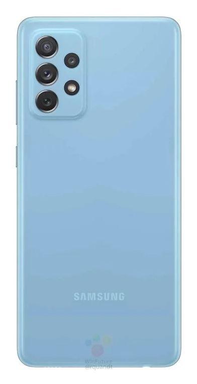 Samsung Galaxy A72 Source WinFuture - Rückseite Blau