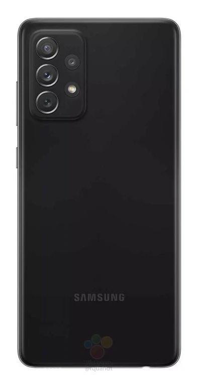 Samsung Galaxy A72 Source WinFuture - Rückseite Schwarz