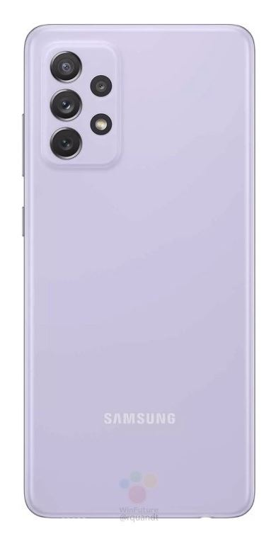Samsung Galaxy A72 Source WinFuture - Rückseite Violett