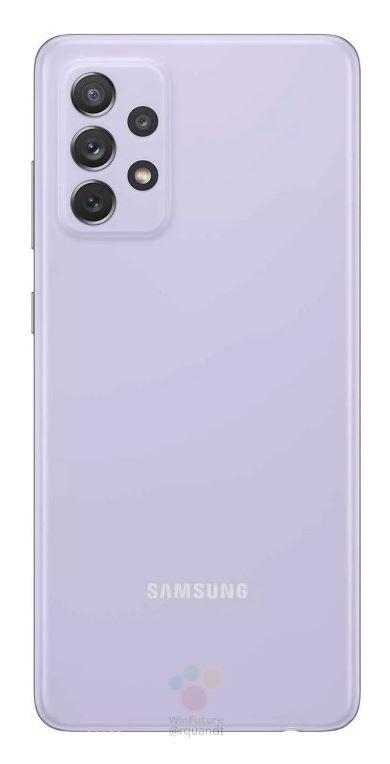 Samsung Galaxy A72 Source WinFuture - Rückseite Violett