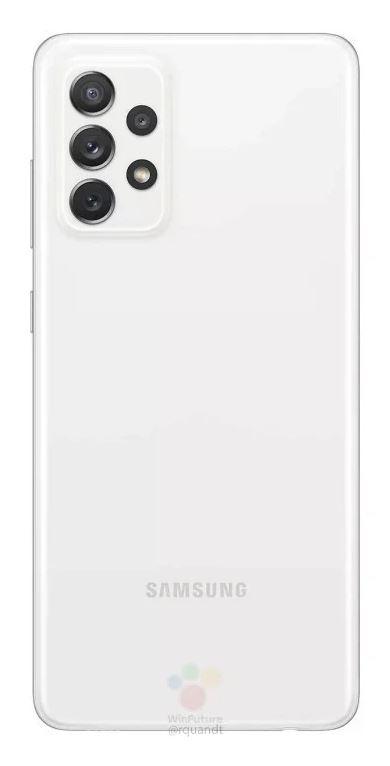 Samsung Galaxy A72 Source WinFuture - Rückseite Weiß