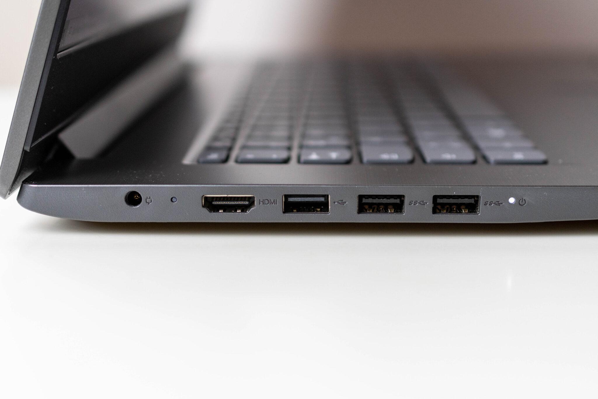 Lenovo V17 alle Anschlüsse sind auf der linken Seite