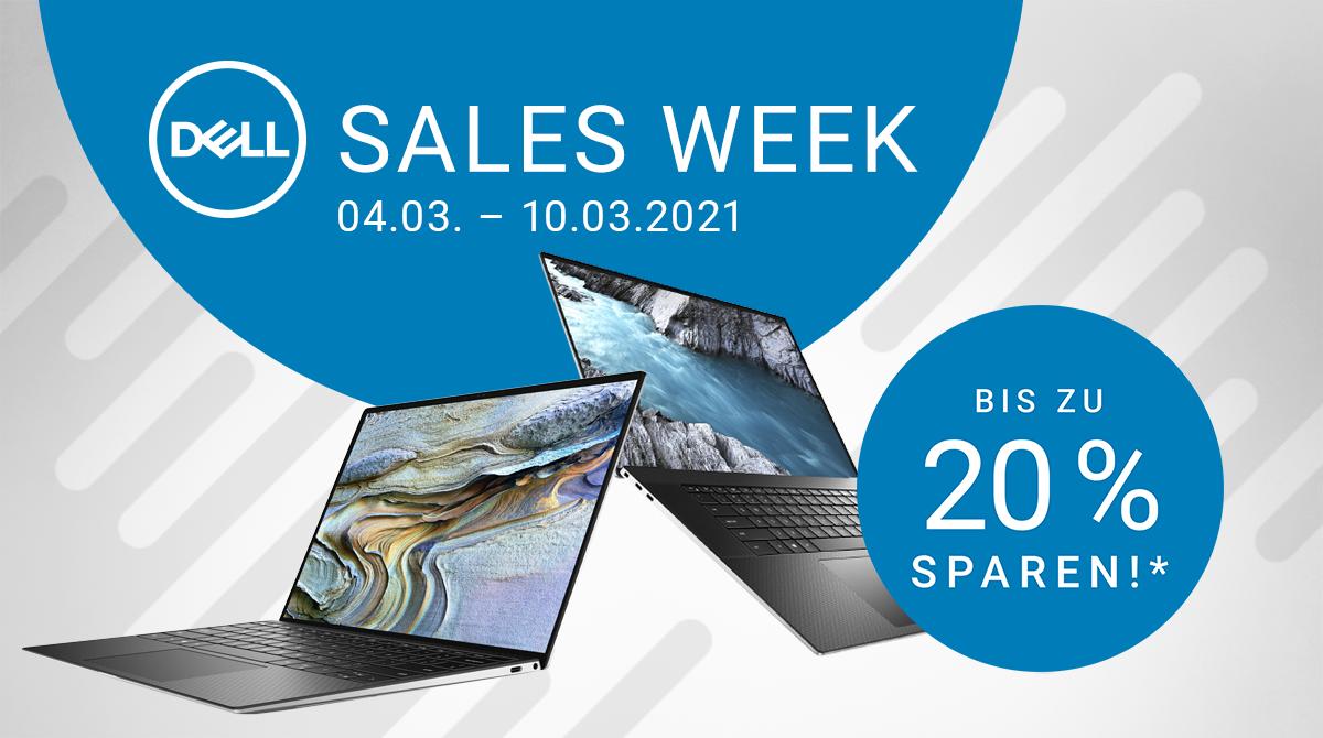 Dell Sales Week: Spare bis zu 20% auf ausgewählte Notebooks