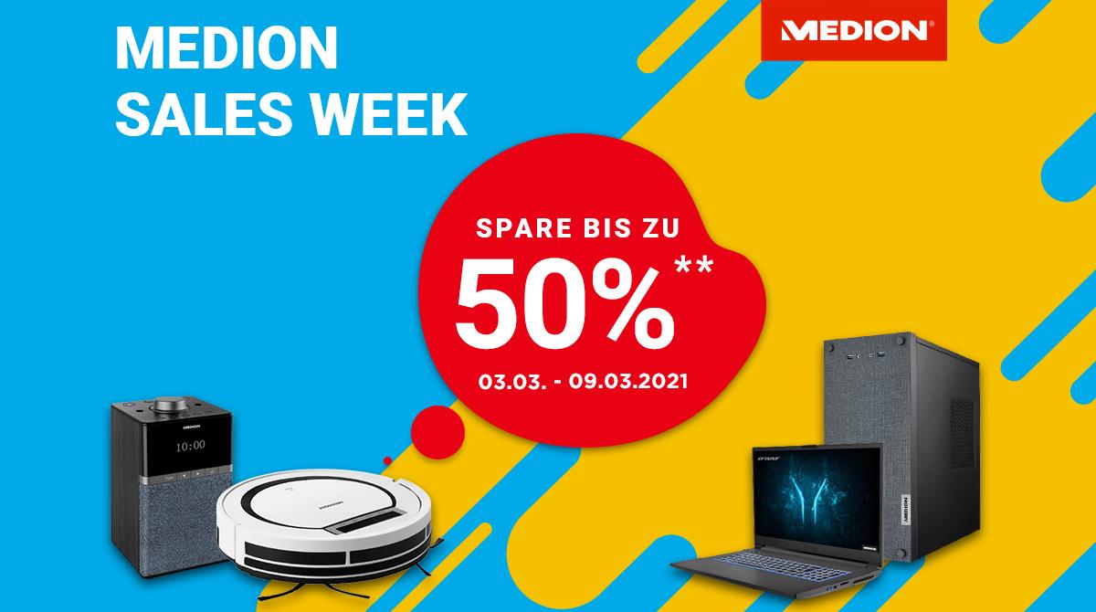 Medion Sales Week: Sicher dir bis zu 50% Rabatt