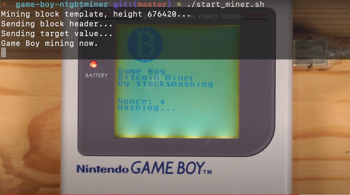 Mining: Mit einem Game Boy Bitcoin schürfen
