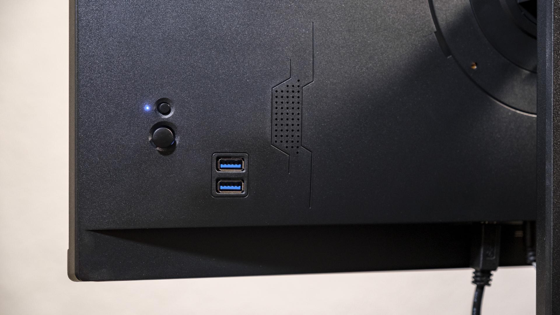 Hannspree 248WJB Office Monitor Rückseite Joystick USB