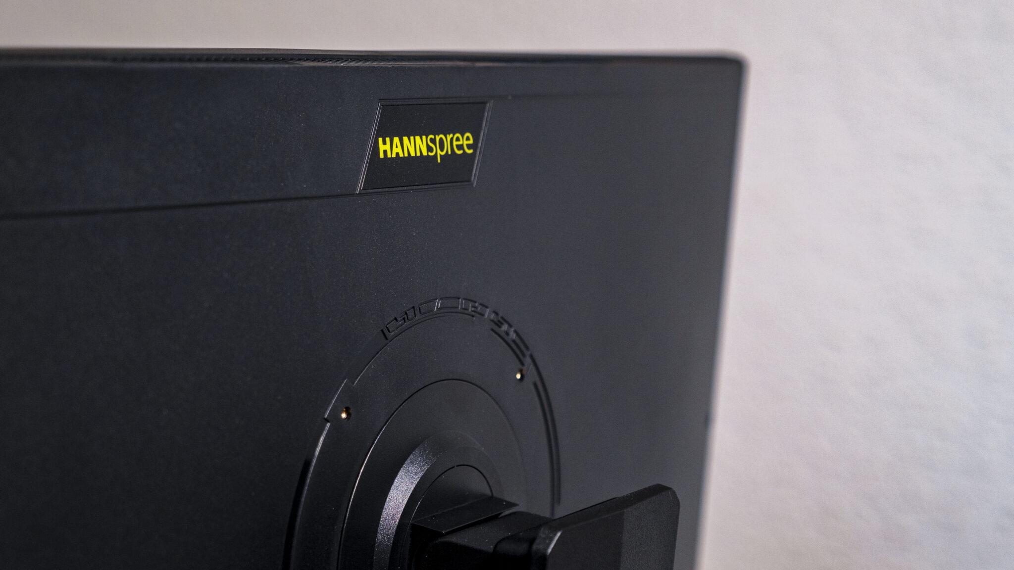 Hannspree 248WJB Office Monitor Rückseite Logo Hannspree