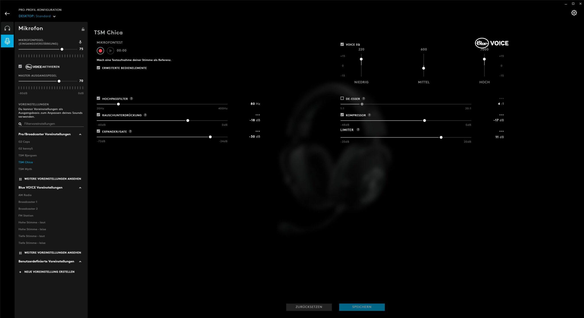 Logitech Pro X Wireless Gaming-Headset Software G Hub Mikrofon