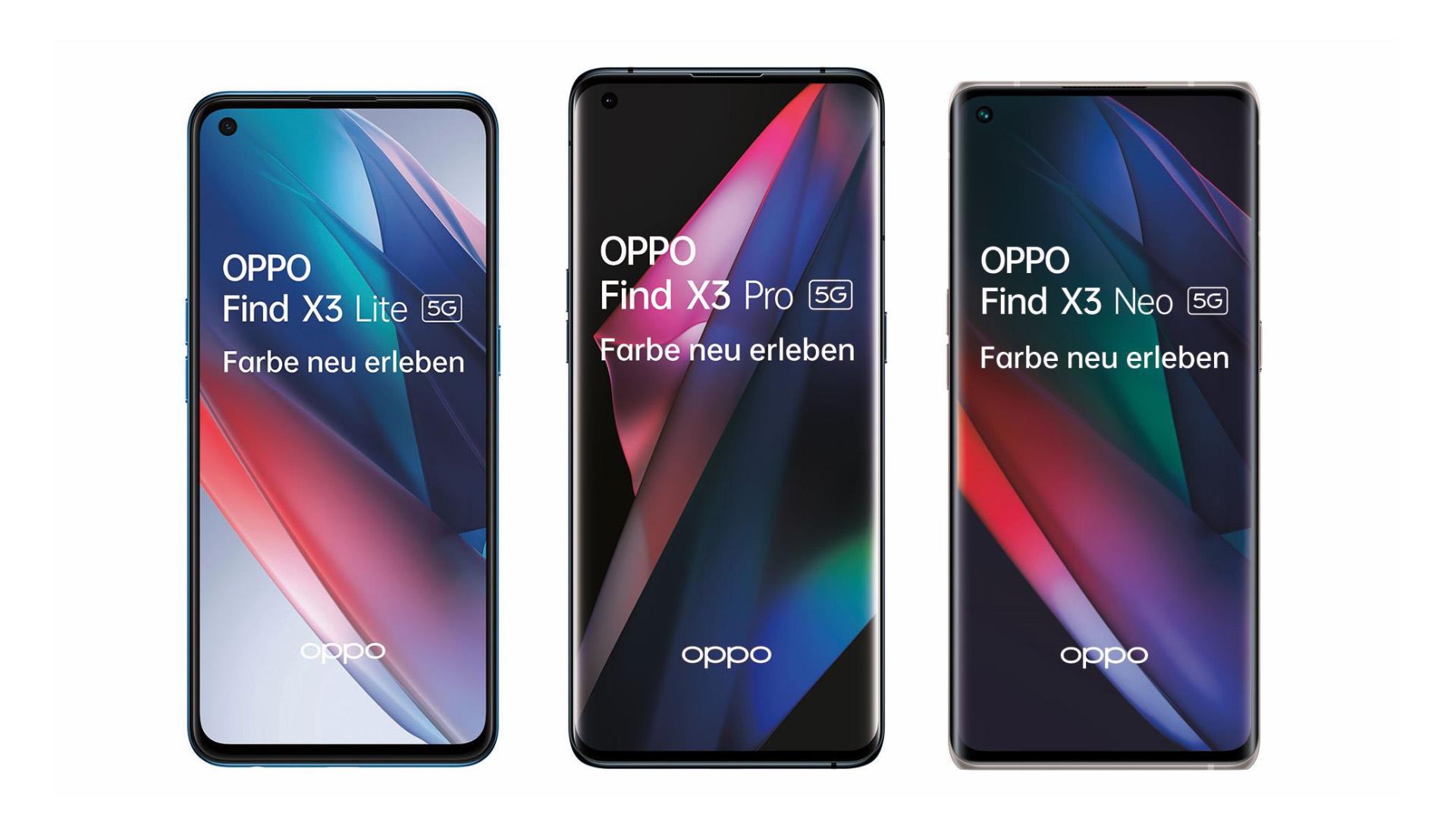 Flaggschiff-Smartphone OPPO Find X3 Pro 5G & Ableger vorgestellt