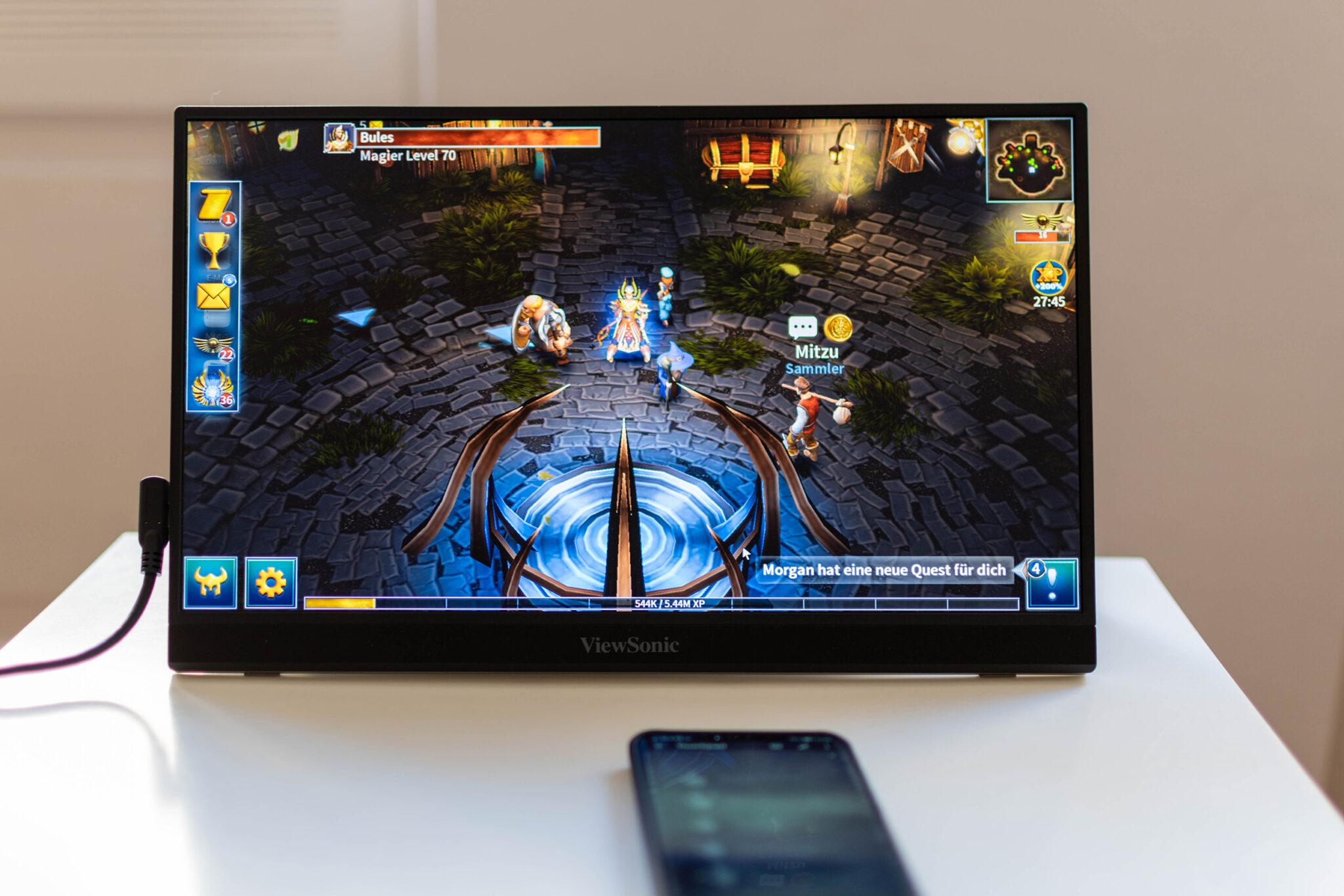 ViewSonic VG1655 mobiler Monitor Gaming