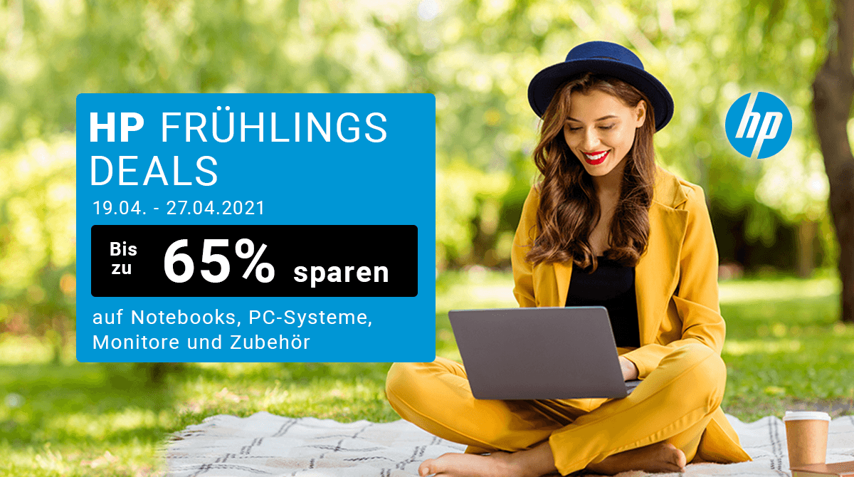 Notebooks, PCs, Monitore, Zubehör: Spare bis zu 65% bei den HP Frühlings Deals