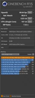 Surface Laptop 4 13.5 AMD CineBench 15