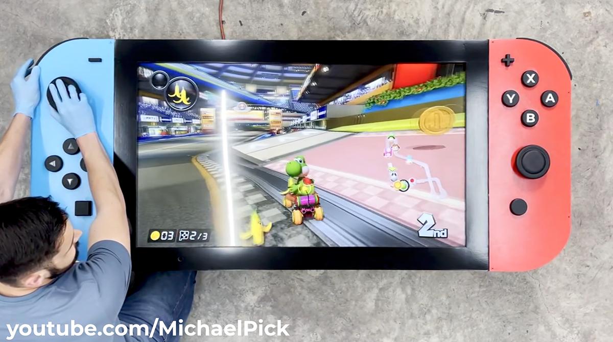 Es muss nicht immer klein sein: Bastler baut Nintendo Switch in Esstischgröße