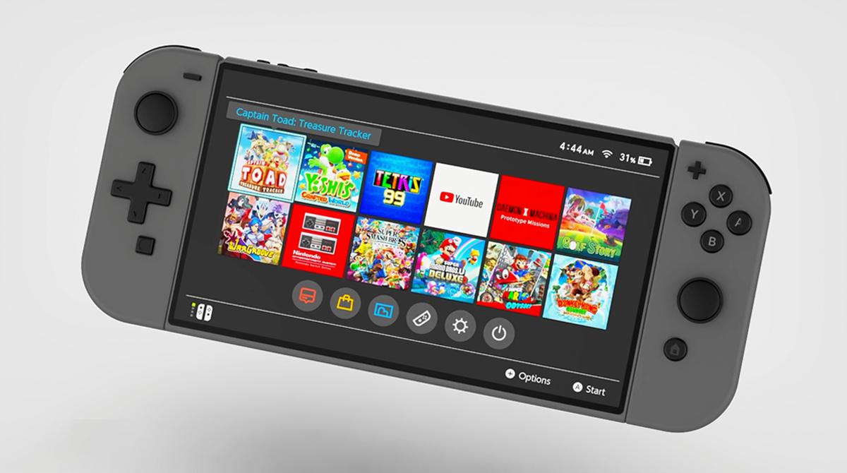 Nintendo Switch Pro: Neues Konzept-Design aufgetaucht