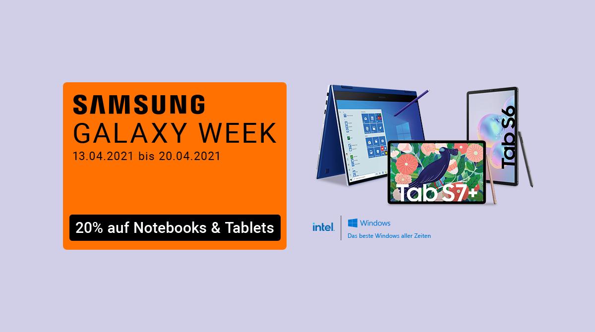 Samsung Galaxy Week: Spare 20% auf ausgewählte Notebooks und Tablets