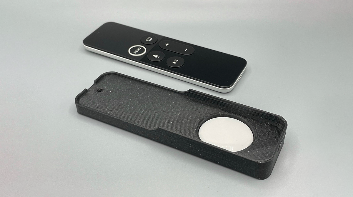 3D-Druck: Apple TV-Fernbedienung und AirTag kombiniert