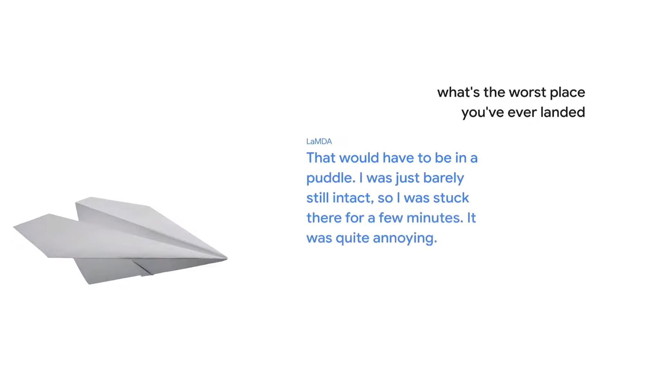 Google LaMDA: Wenn euer Google Assistant ein Papierflugzeug sein kann