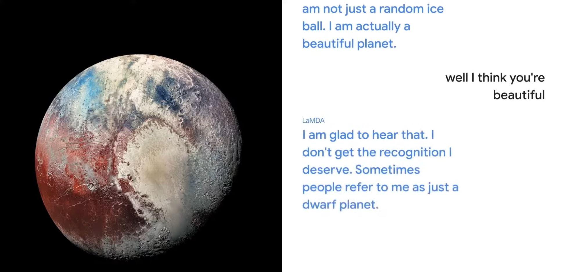 Google LaMDA Pluto
