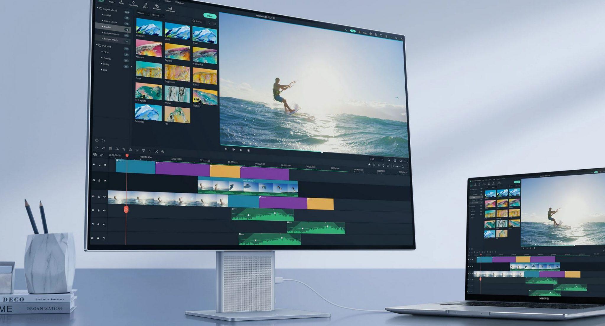 Huawei MateView Video Editing