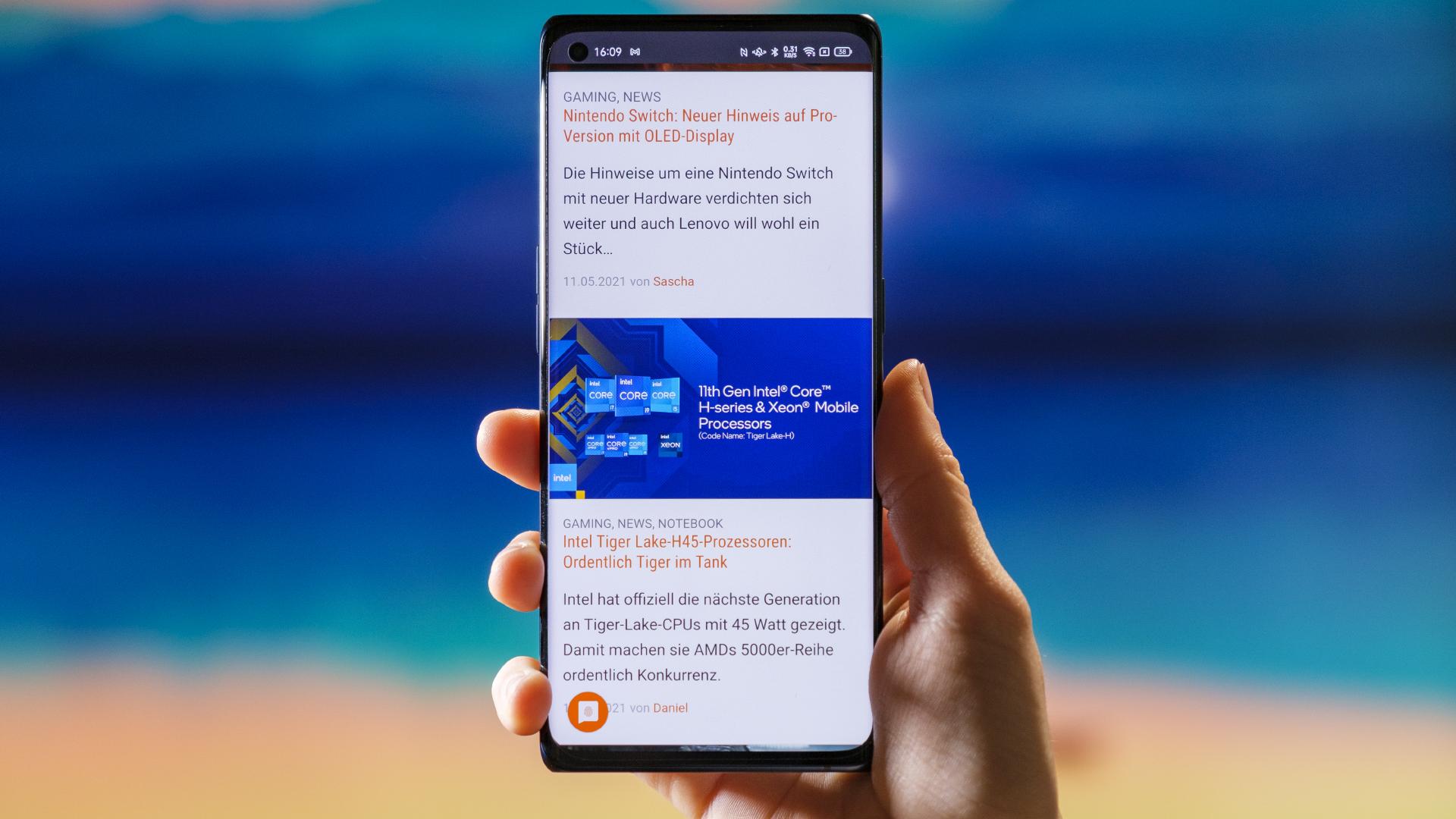 OPPO Find X3 Neo 5G Display Web Surfen