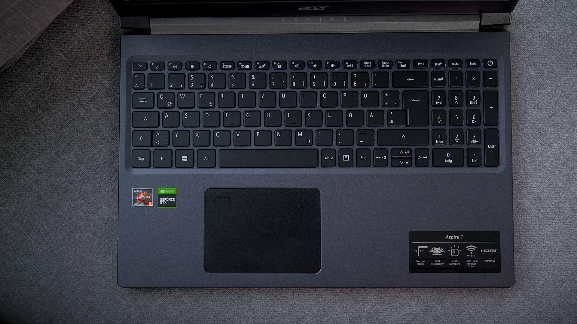 Acer Aspire 7 keys