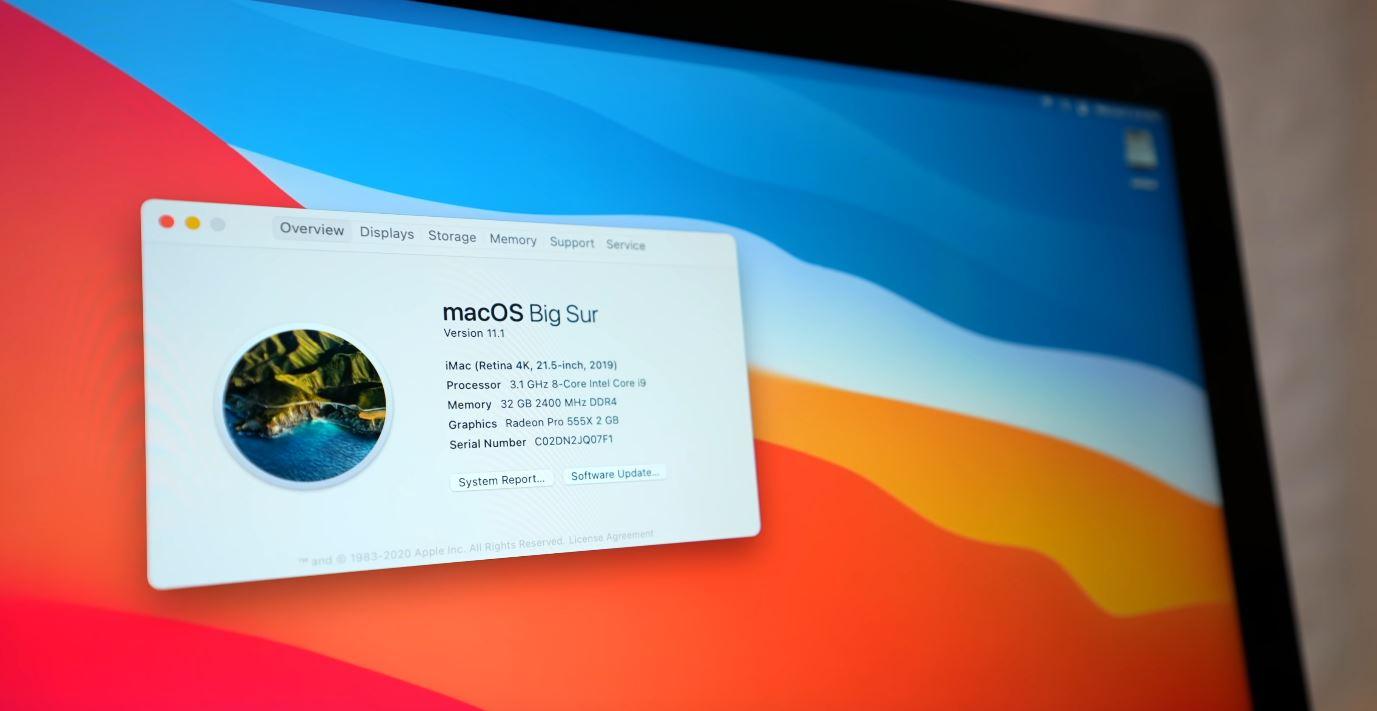 Apple iMac Intel Core i9 via Luke Miani on YouTube CPU Big Sur