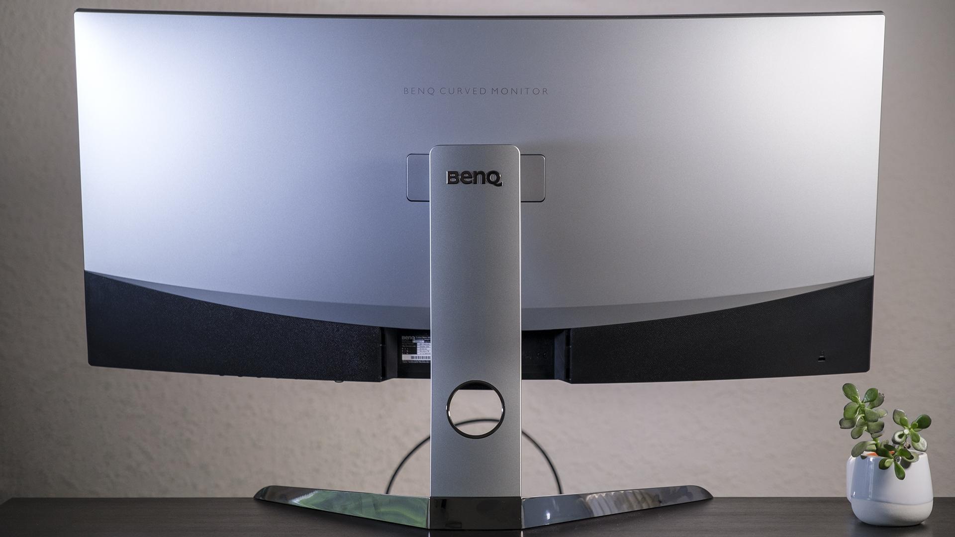 BenQ EX3501R Curved Gaming Monitor Rückseite Höheneinstellung maximal