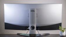 BenQ EX3501R Curved Gaming Monitor Rückseite Höheneinstellung minimal