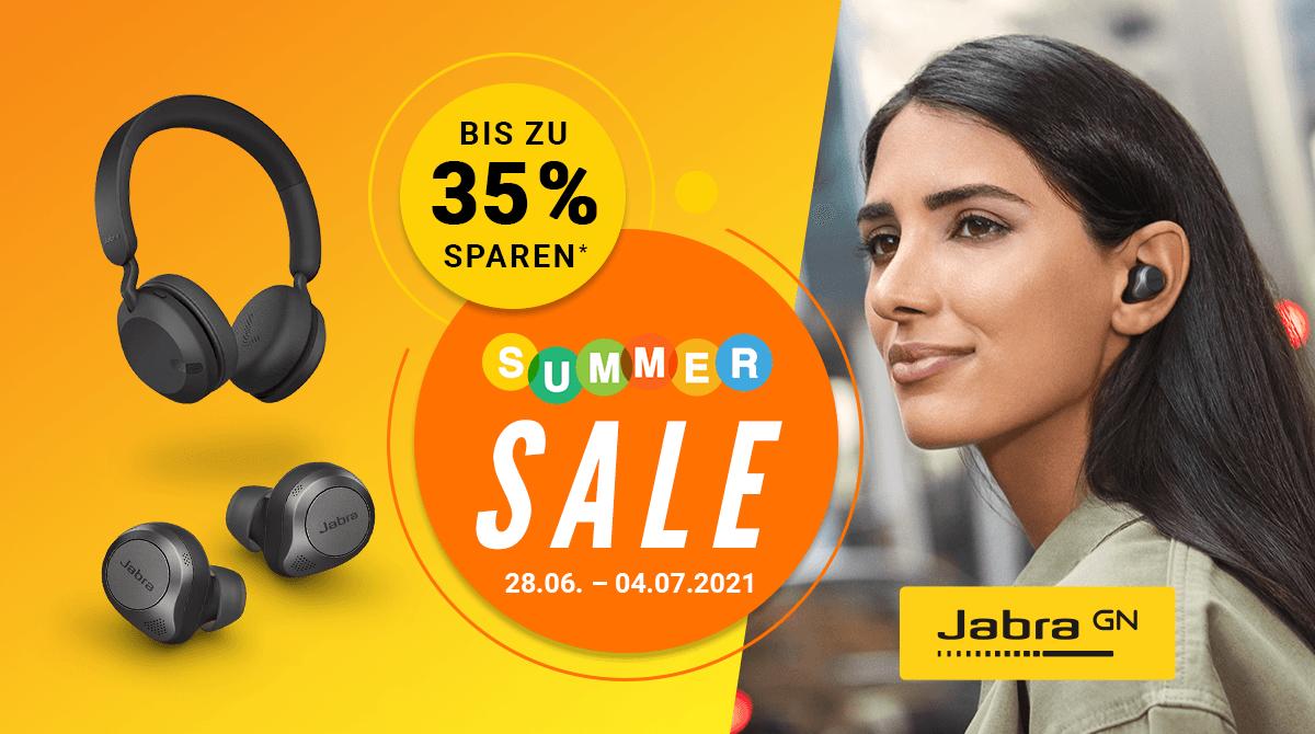 Jabra Summer Sale – Bis zu 35% Rabatt auf ausgewählte Kopfhörer & Headsets