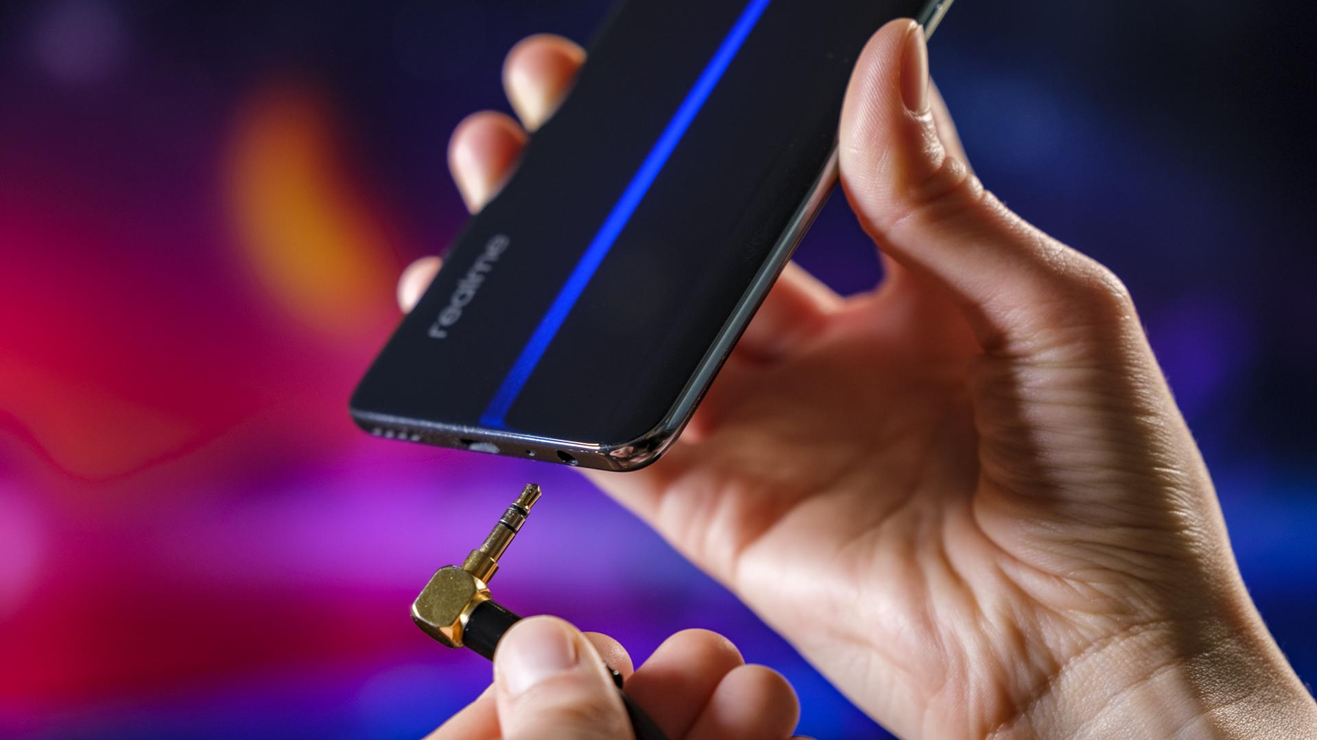 Realme GT 5G Unterseite Klinke Kopfhörer