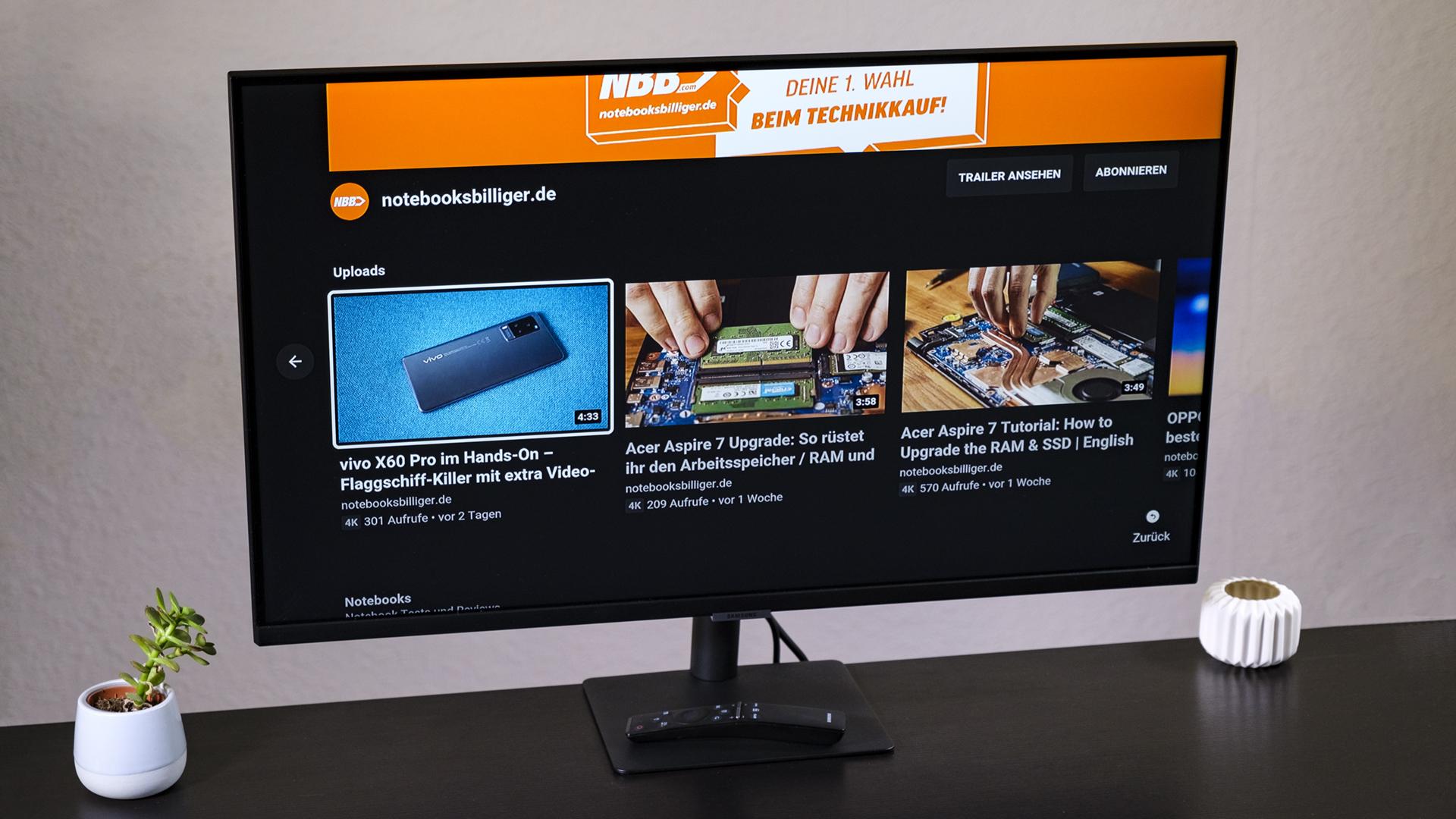 Samsung S32AM504NU: Preiswerter 32-Zoll-Monitor mit smarten Features