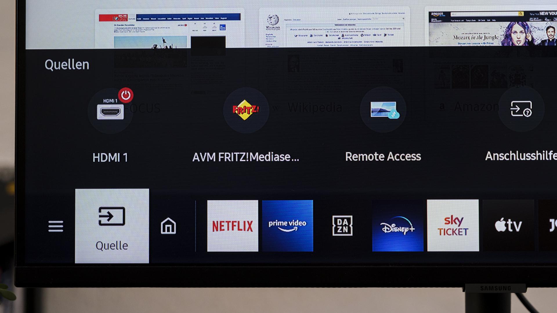 Samsung Smart Monitor M5 S32AN504NU Quellen