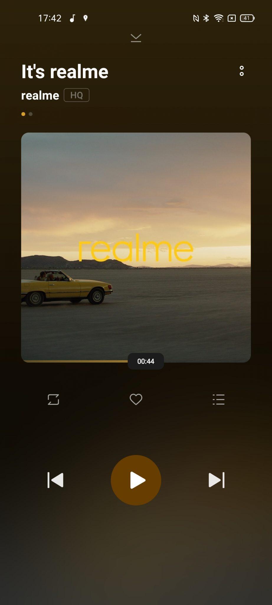 Realme GT 5G Musik App