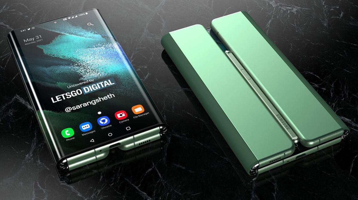 Renderbilder: So könnte das Samsung Galaxy Z Fold Tablet aussehen