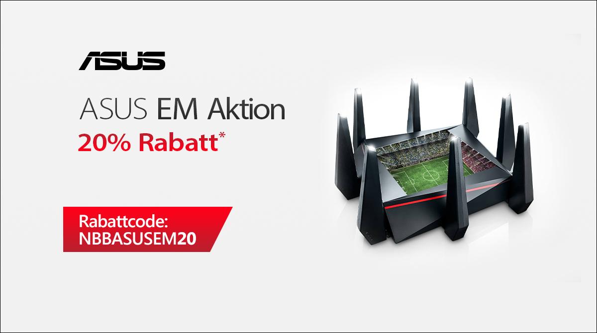 ASUS EM-Aktion: Bis zu 20% Rabatt auf ASUS-Router