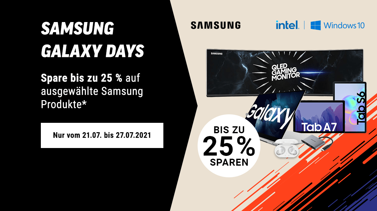 Spare bis zu 25% bei unseren Samsung Galaxy Days
