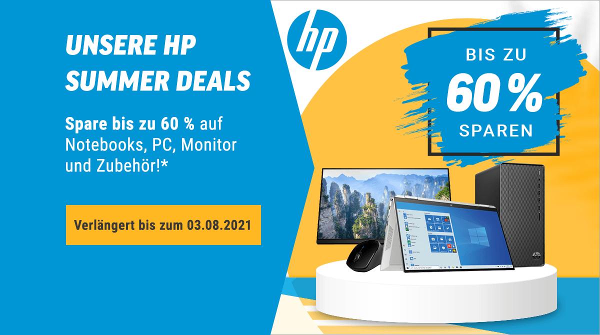 HP Summer Deals: Sicher dir bis zu 60% Rabatt