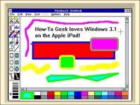 idos windows 3-1 auf iPad Paintbrush