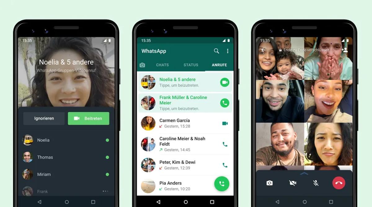 WhatsApp: Neues Feature für Gruppenanrufe